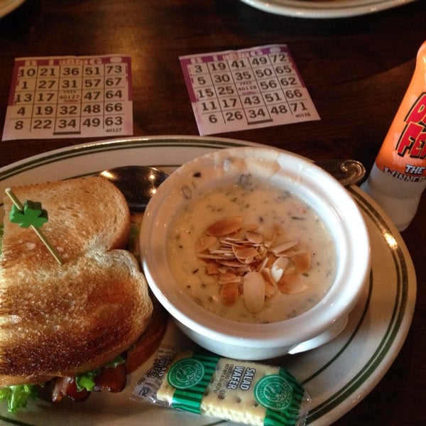 Bingo while you eat! The food is good, too!