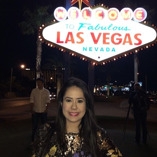 Photo taken at Welcome To Fabulous Las Vegas Sign by Ana Luiza M. on 3/3/2014