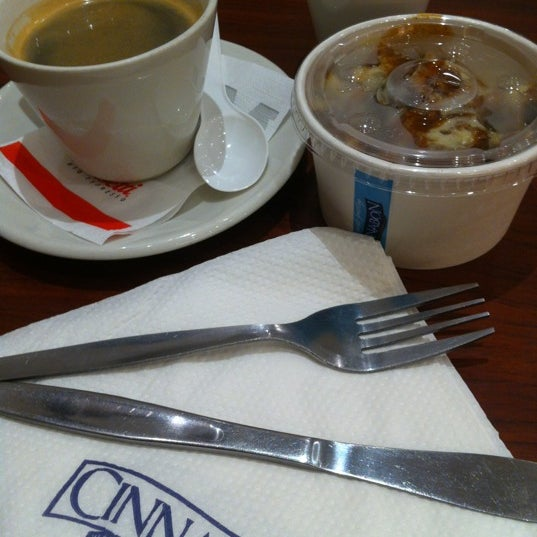 Photo taken at Cinnabon - Canal Walk by Aron Jang Hyun S. on 10/21/2012