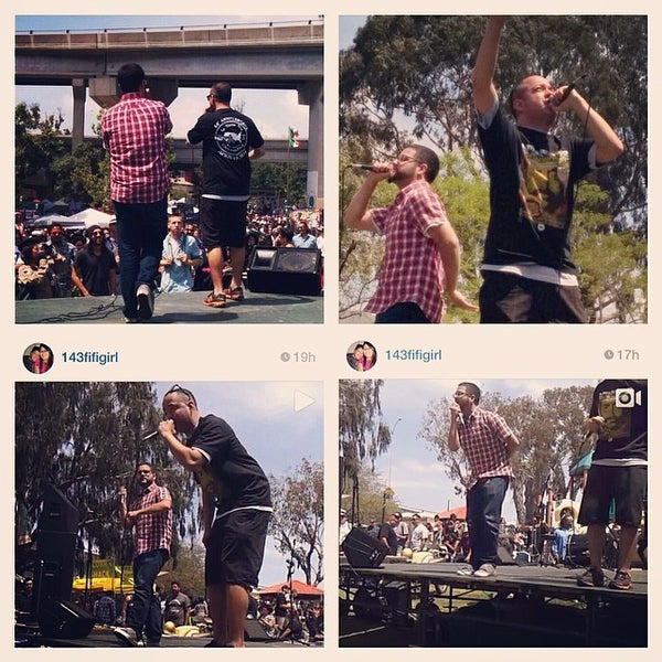 Photo taken at Chicano Park by Brandon B. on 4/22/2014