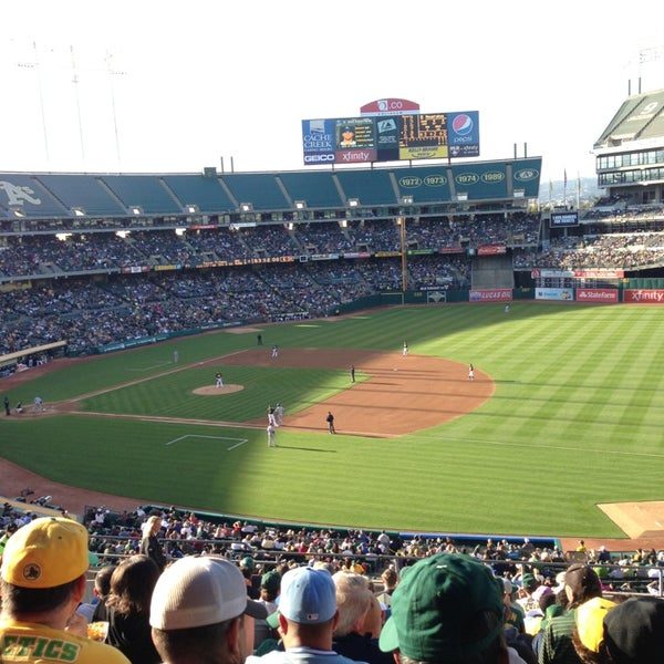 Photo taken at O.co Coliseum by Eduardo H. on 5/19/2013