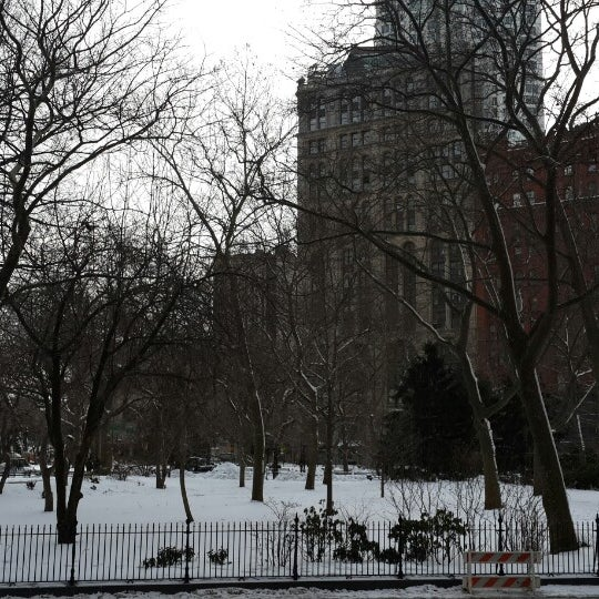 Photo taken at City Hall Park by Bryan S. on 2/16/2014