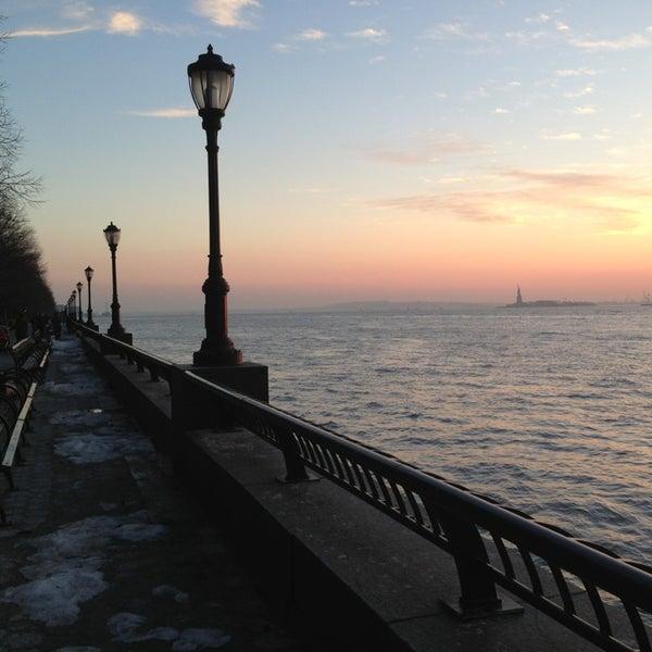 Photo taken at Battery Park City Esplanade by Dilek K. on 2/14/2013