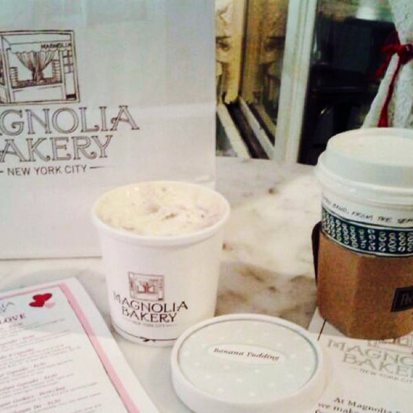 Photo taken at Magnolia Bakery by Dilek K. on 2/13/2014