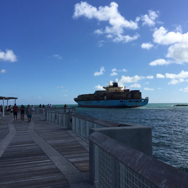 Photo taken at South Pointe Pier by David S. on 12/24/2016