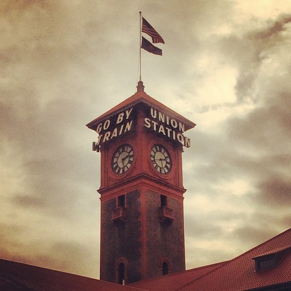 Photo taken at Union Station Amtrak (PDX) by Emilia F. on 2/5/2014