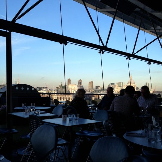 Photo taken at OXO Tower Brasserie by Mark F. on 11/18/2012