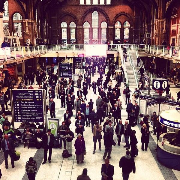 Photo taken at London Liverpool Street Railway Station (ZLS) by Adam G. on 11/20/2012