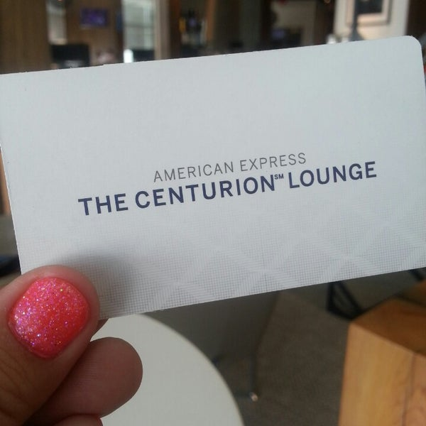 Photo taken at The Centurion Lounge by American Express by Kristi L. on 5/15/2013