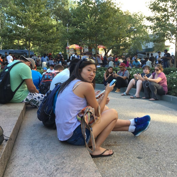 Photo taken at Grand Army Plaza by Jordan S. on 8/23/2016