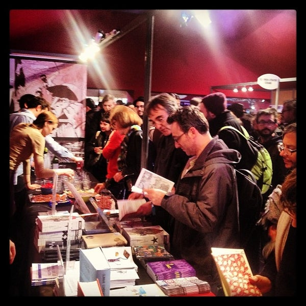 Photo taken at Festival international de la Bande Dessinée by Fredrik S. on 1/31/2014