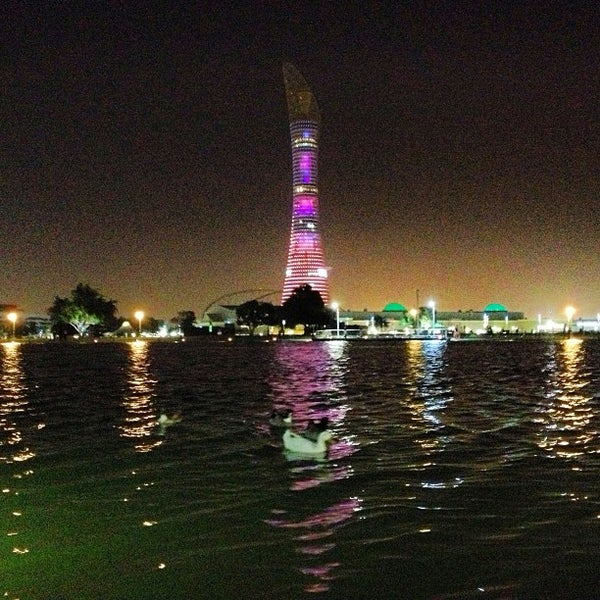 Photo taken at Aspire Park | حديقة اسباير by mohammed l. on 3/8/2013