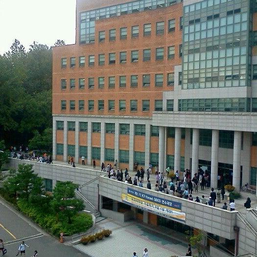 Photo taken at 연세대학교 새천년관 (Yonsei University, New Millennium Hall) by Monica N. on 10/6/2012