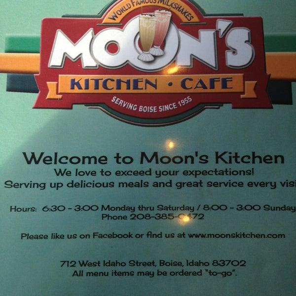 Blue Moon Coffee Cafe Menu
