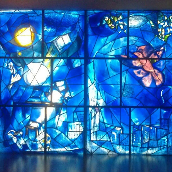 """Photo taken at Chagall Mosaic, """"The Four Seasons"""" by minty on 10/31/2012"""