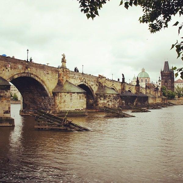 Photo taken at Charles Bridge by Mathew Q. on 5/27/2013