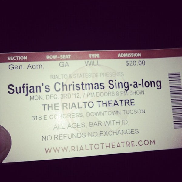Photo taken at The Rialto Theatre by Jason G. on 12/4/2012