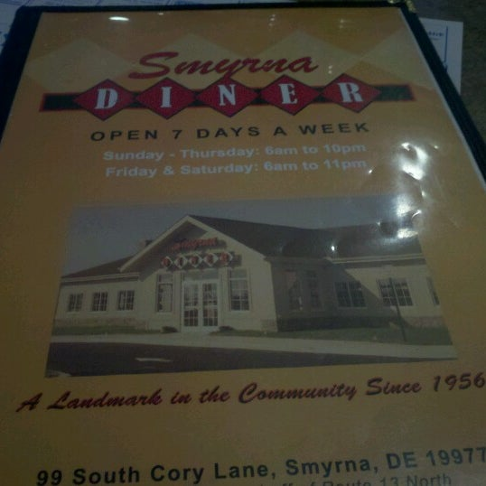 Photo taken at Smyrna Diner by Guy V. on 1/27/2013
