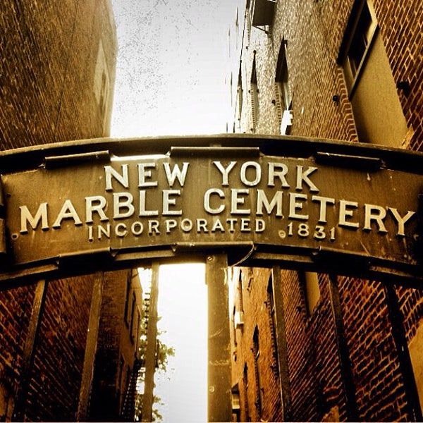 Photo taken at New York City Marble Cemetery by Thomas A. on 9/1/2013