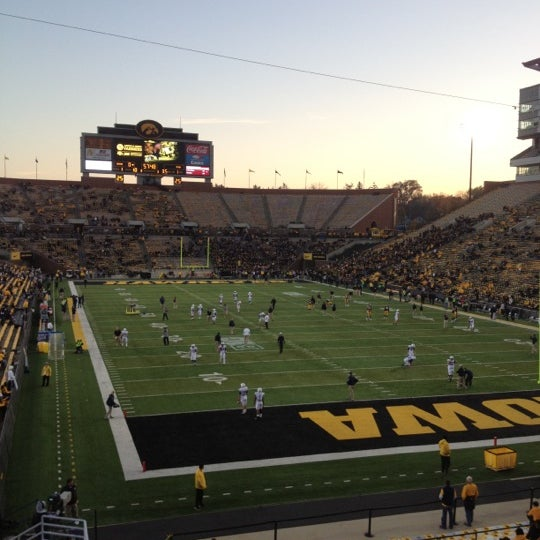 Photo taken at Kinnick Stadium by Angie W. on 10/20/2012