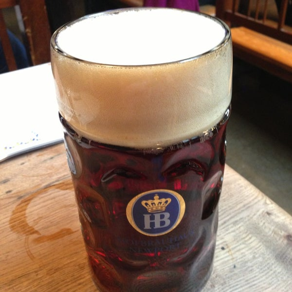 Photo taken at Hofbräuhaus Newport by Matthew J. on 12/28/2012