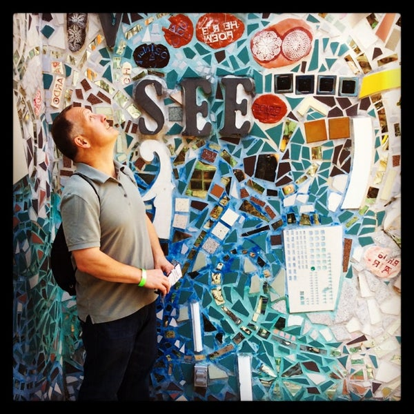 Photo taken at Philadelphia's Magic Gardens by Carole D. on 4/13/2014