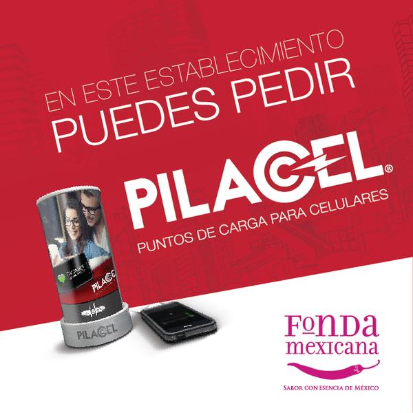 Carga tu celular con PILACEL en Fonda Mexicana Polanco