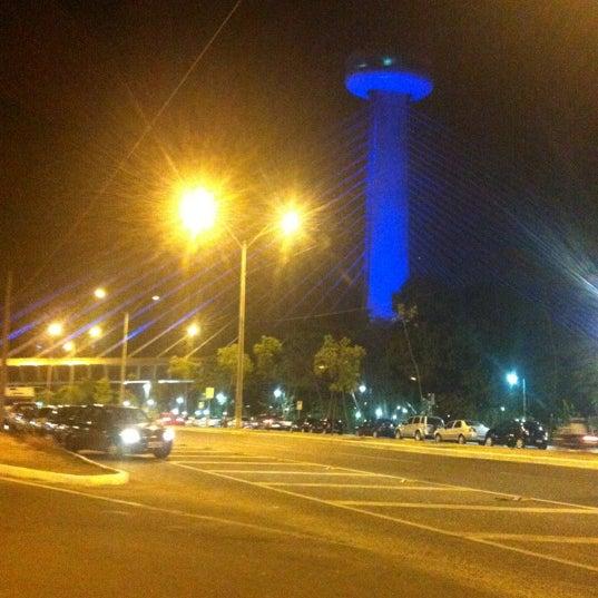 Photo taken at Ponte Estaiada by Rafael K. on 11/4/2012