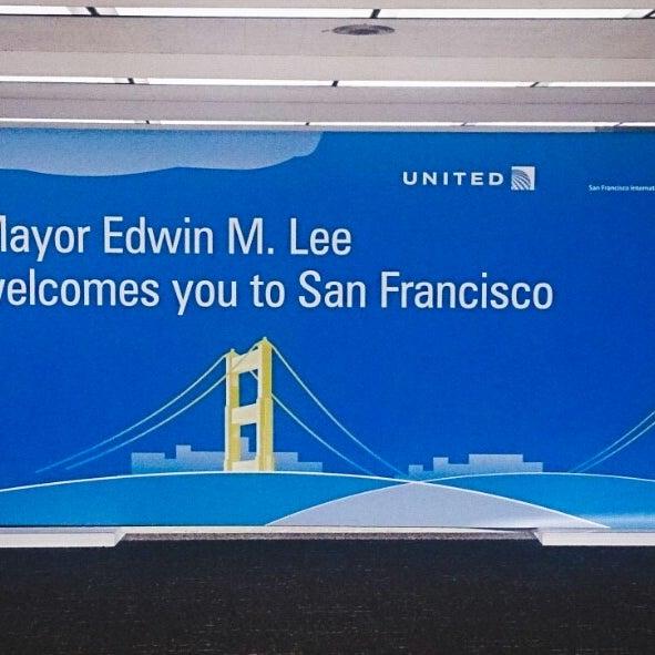 Photo taken at San Francisco International Airport (SFO) by Alex B. on 4/4/2015