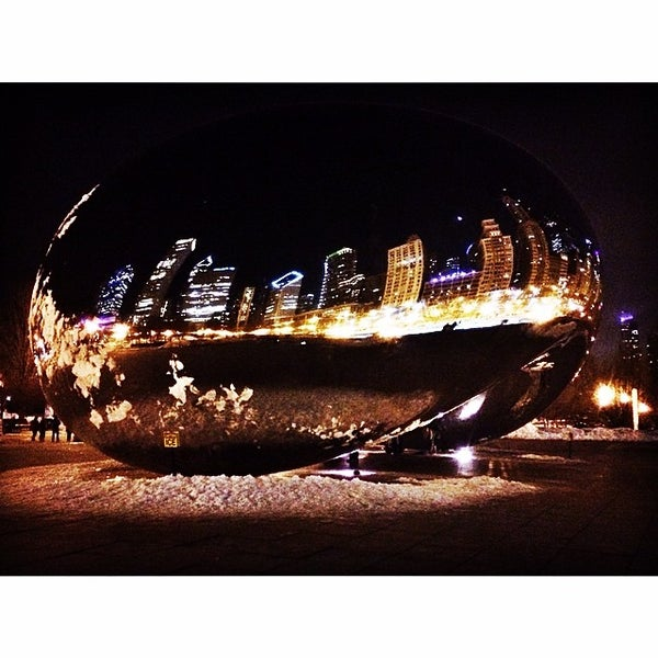 Photo taken at Cloud Gate by Aris M. on 3/7/2014