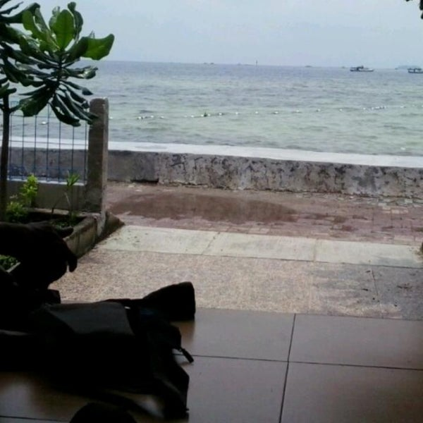 Photo taken at Pulau Pramuka by Faiza A. on 3/19/2015