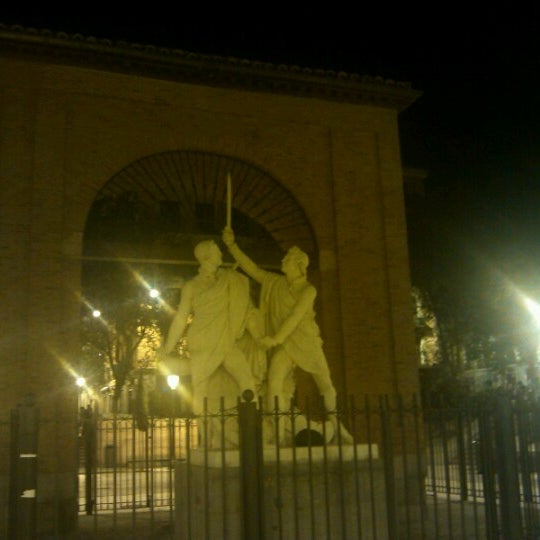 Photo taken at Plaza del Dos de Mayo by Adiba E. on 10/7/2012