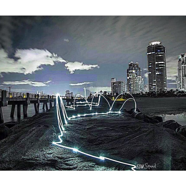 Photo taken at South Pointe Pier by EDM S. on 3/11/2016