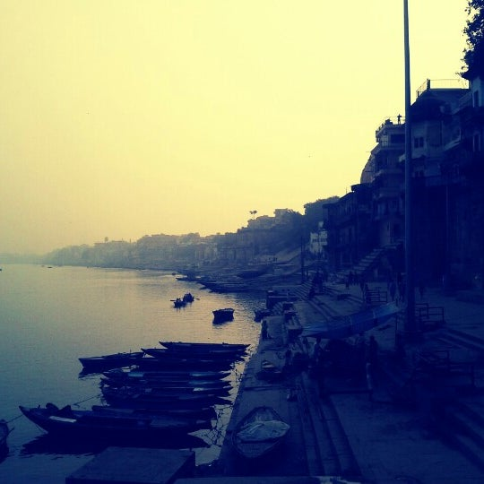 Photo taken at Dasaswamedh Ghat by Apoorv S. on 11/17/2012