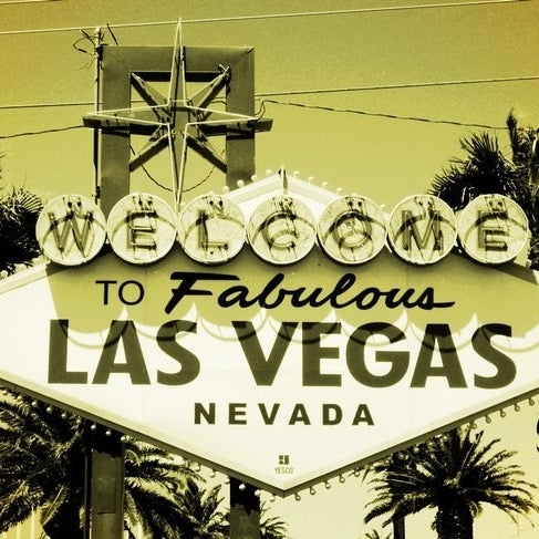 Photo taken at Welcome To Fabulous Las Vegas Sign by Joan T. on 12/2/2012