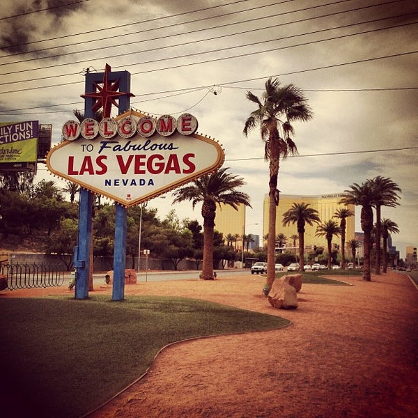 Photo taken at Welcome To Fabulous Las Vegas Sign by Harald G. on 6/12/2013