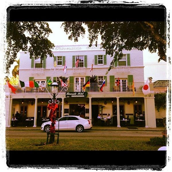 Photo taken at Riverside Hotel by Nick G. on 11/22/2012