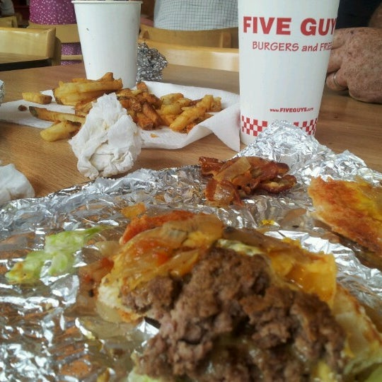 Photo taken at Five Guys by Sheila W. on 10/19/2012
