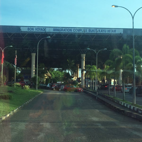 Photo taken at Bukit Kayu Hitam Immigration Complex by Fiza H. on 5/27/2016