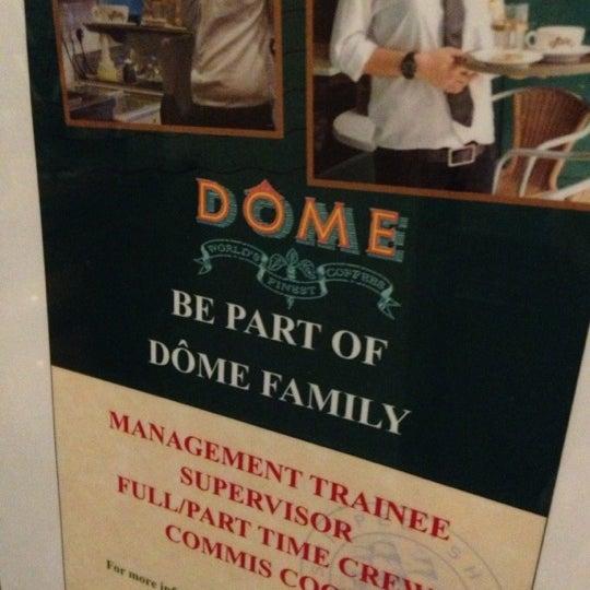 Photo taken at Dôme Café by Chi Hian F. on 10/31/2012