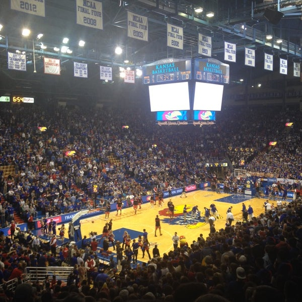 Photo taken at Allen Fieldhouse by Sarah M. on 3/6/2014