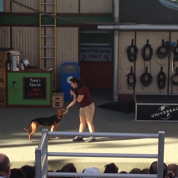 Photo taken at Universal's Animal Actors by Jason C. on 2/14/2014