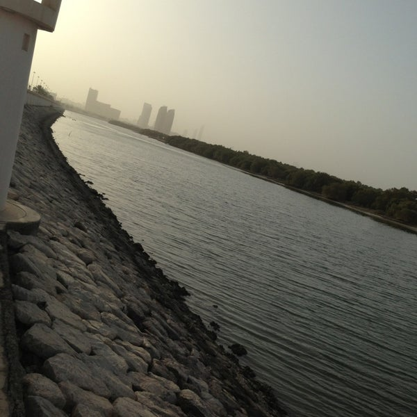 Photo taken at Eastern Mangroves Corniche by IBRAHEEM on 4/7/2013
