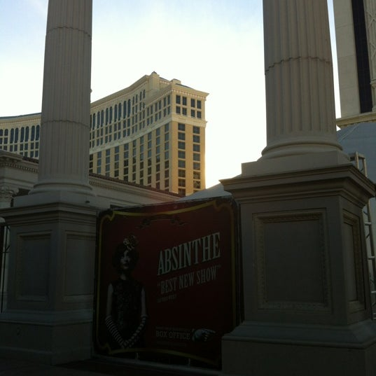 Photo taken at Caesars Palace Gardens by Stephane D. on 2/1/2013