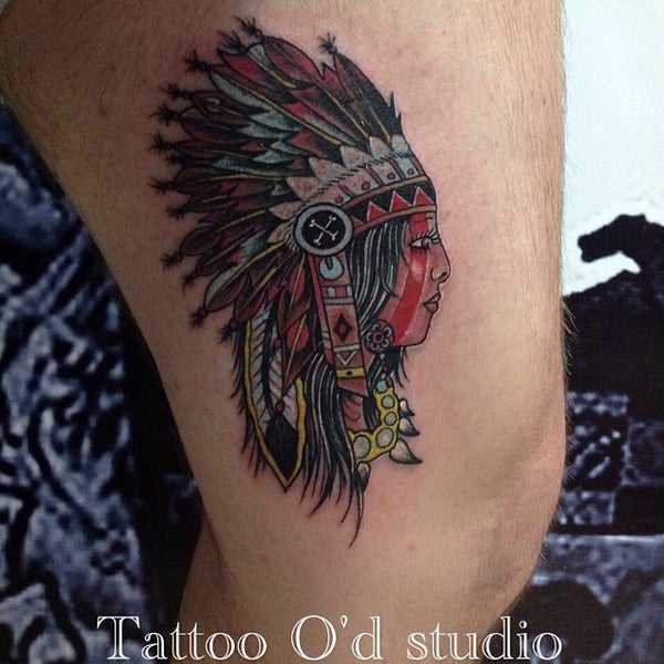 Photo taken at Tattoo O'd studio by Boho M. on 6/20/2014
