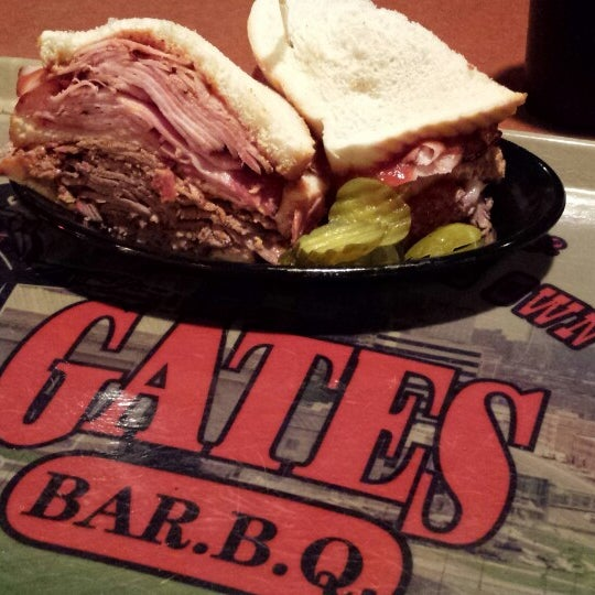 Photo taken at Gates Bar-B-Q by Michael C. on 4/9/2014