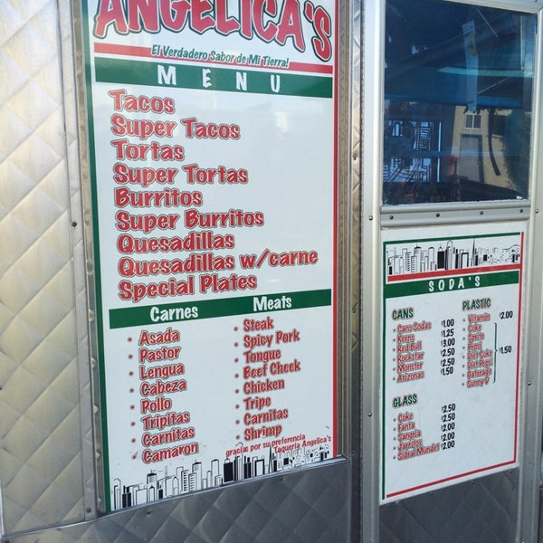 Photo taken at Angelica's Taqueria Taco Truck by sneakerpimp on 7/28/2014