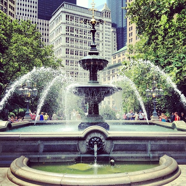 Photo taken at City Hall Park by Jarrod F. on 6/24/2013