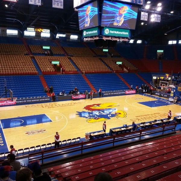 Photo taken at Allen Fieldhouse by Josh D. on 3/2/2013