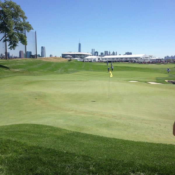 Photo taken at Liberty National Golf Course by Justin C. on 8/24/2013